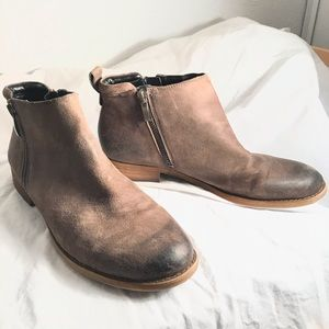 Franco Sarto Ankle Boots, Brown Leather